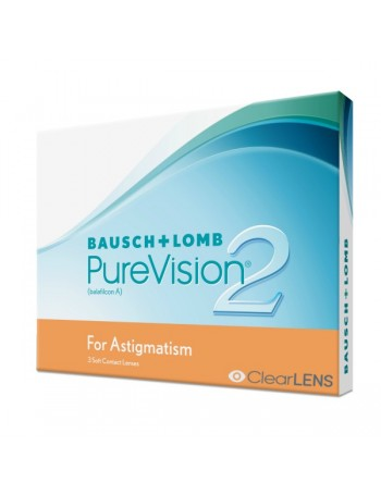 Bausch & Lomb Purevision 2HD for Astigmatism Μηνιαιοι Αστιγματικοι Σιλικονης(3τεμ)