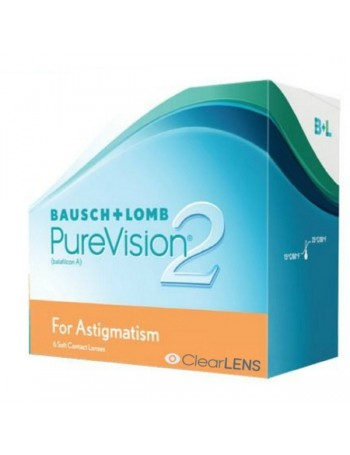 Bausch & Lomb Purevision 2HD for Astigmatism Μηνιαιοι Αστιγματικοι Σιλικονης(6τεμ)