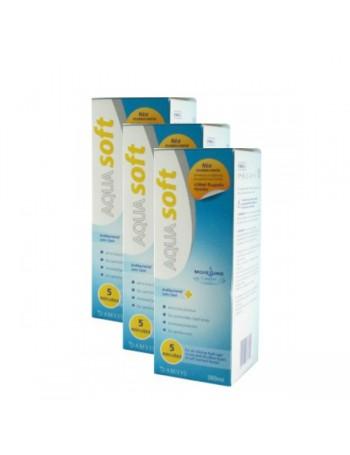 3 Aquasoft Υγρό Φακών Επαφής Πολλαπλών Χρήσεων 380ml