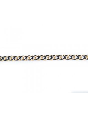 Αλυσίδα Μεταλλική Μαύρη Χρυσή  Mod 0506